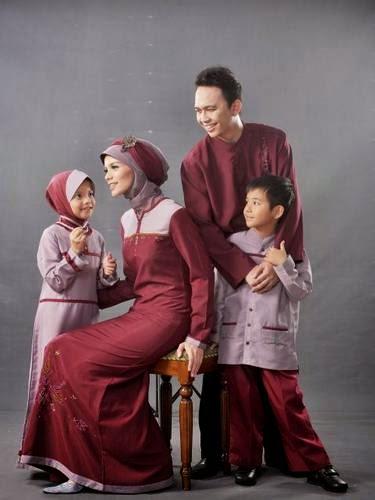 Baju muslim sarimbit lebaran minimalis sederhana