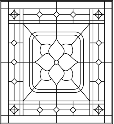 Beveled glass designs and patterns