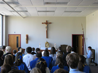 Montgomery Catholic Students Celebrate 9th Annual Worldwide Eucharistic Holy Hour with Mass and Adoration 2