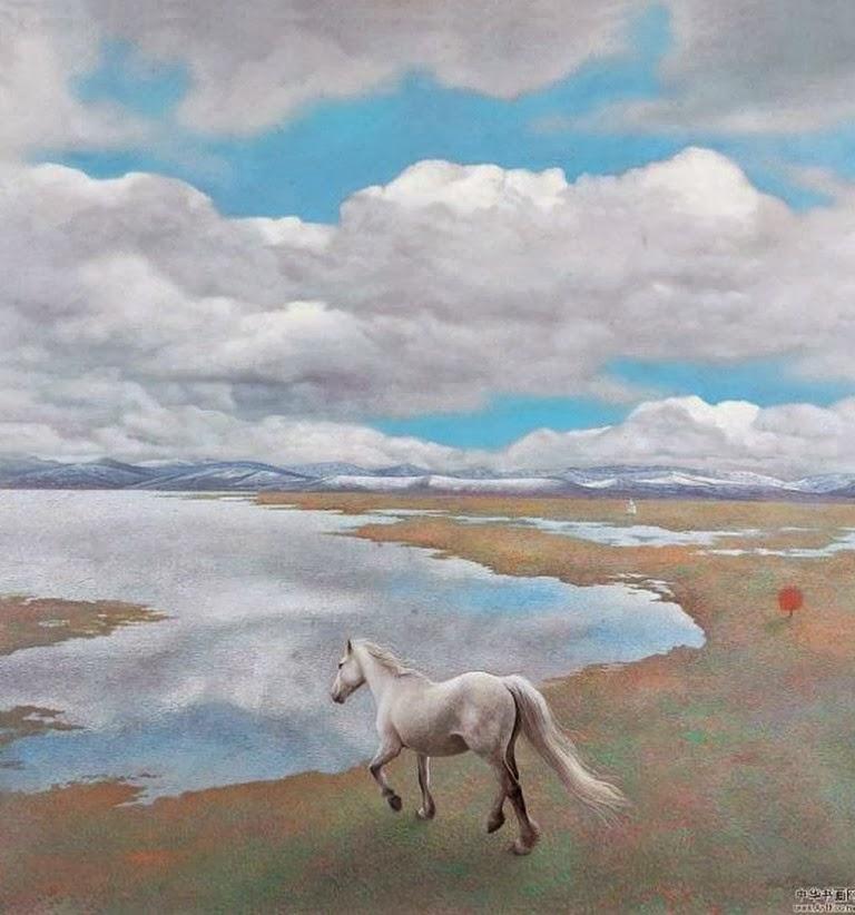 caballos-en-paisajes-al-oleo