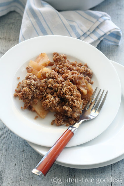 Karina's vegan apple crisp with quinoa flakes