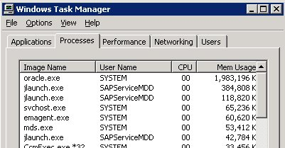 application running in task manager but not visible