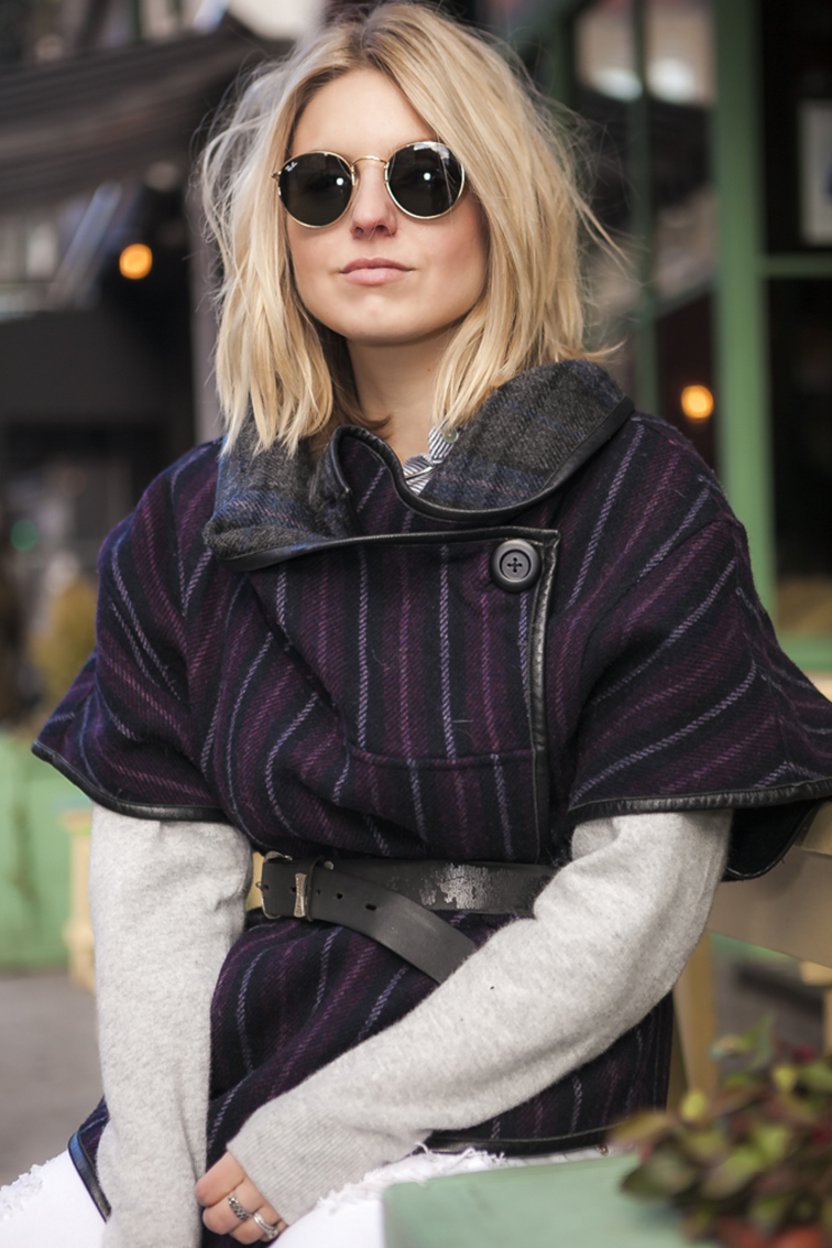 Fashion Over Reason Ray-Ban Lennon sunglasses, Suno poncho
