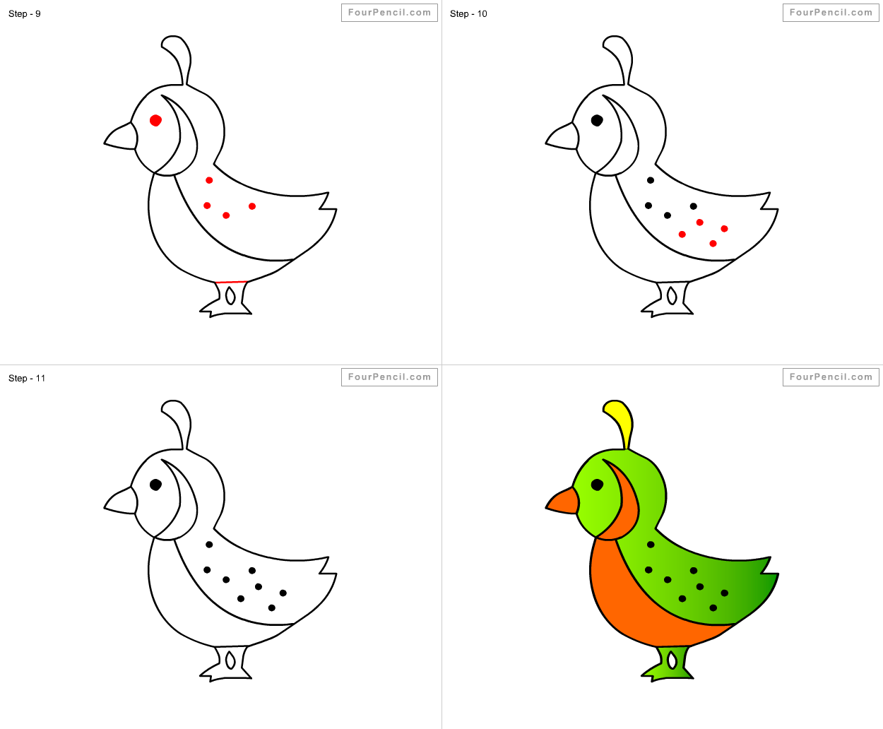 Quail Drawing For Kids 32068  Bitnote
