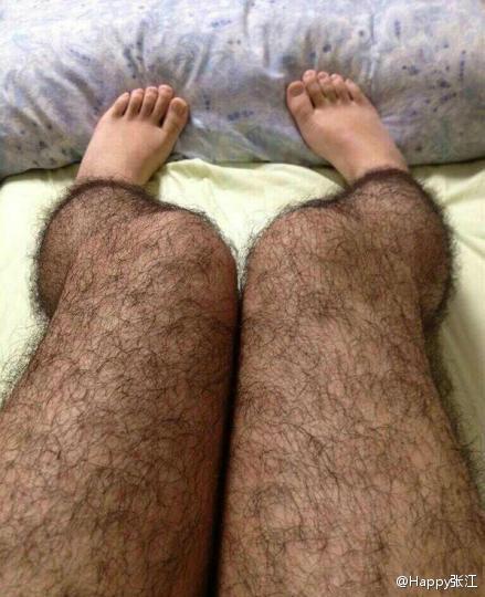 GAMBAR dikatakan bulu kaki tiruan tersebar di Internet.