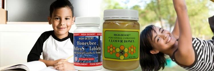 anak, cerdas, sehat, nutrisi, bee pollen, clover honey