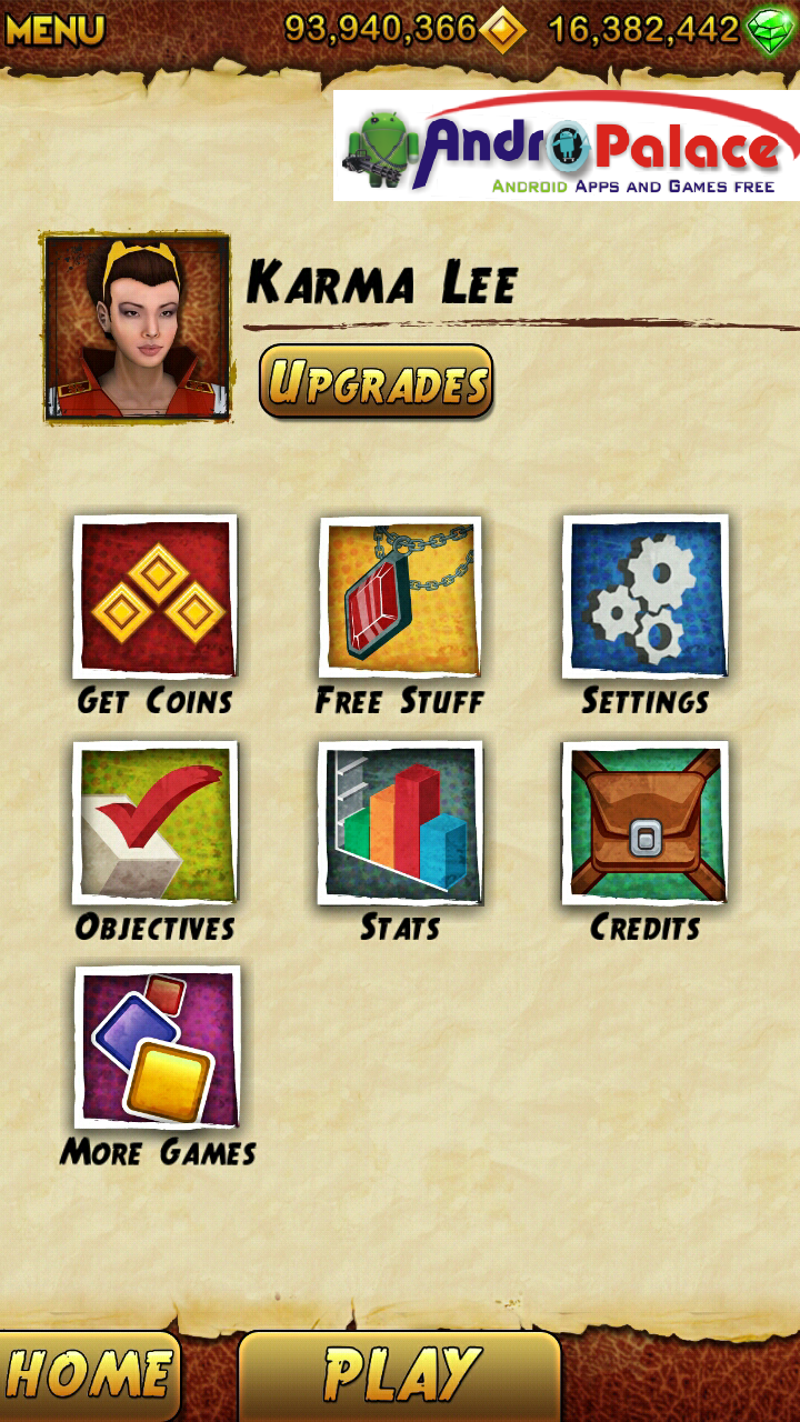 Temple Run 2 Version 1.0.1.1 with unlimited Gold coins( No ROOT