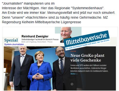 MZ Regensburg Kelheim Mittelbayerische Lügenpresse