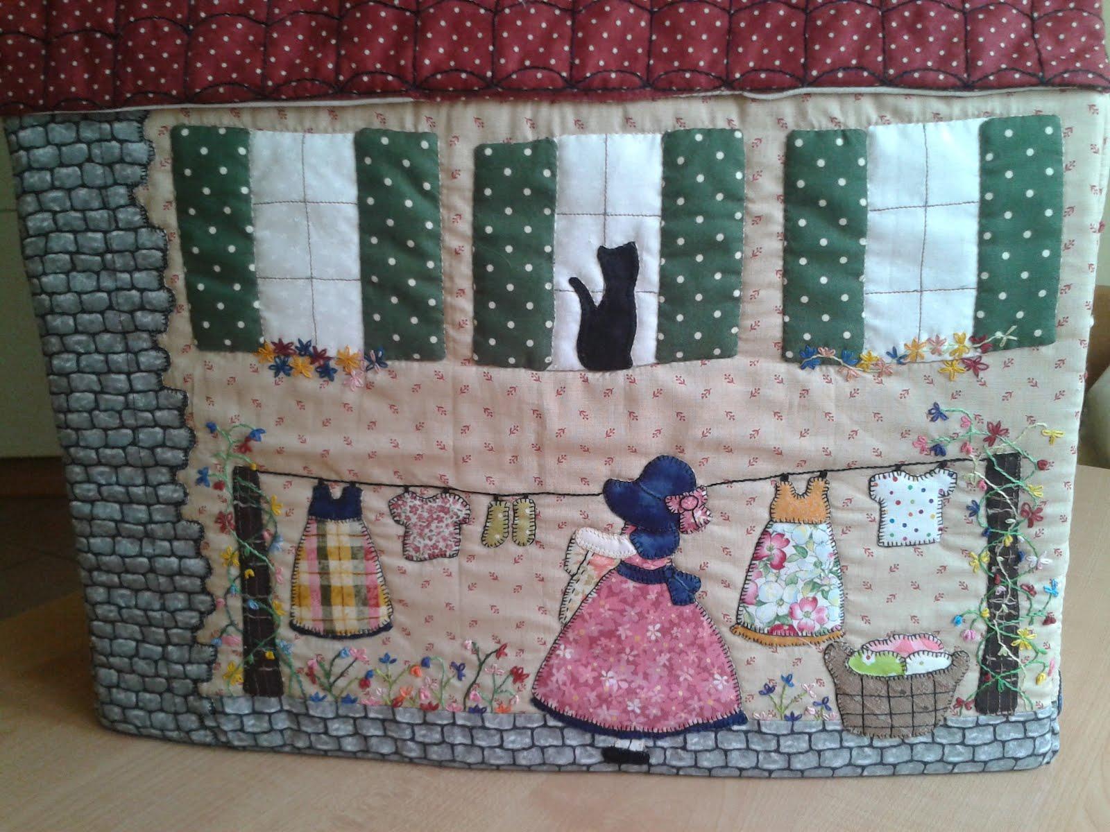 La trapera de amelia casita funda m quina de coser - Patchwork en casa patrones ...