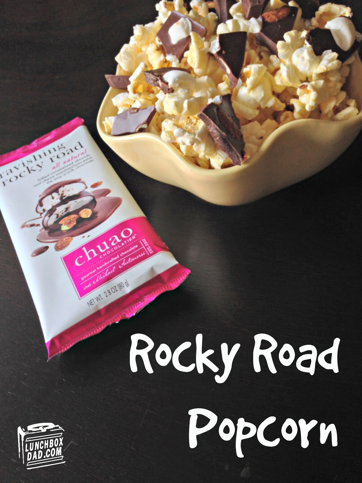 Rocky Road Popcorn with Chuao Chocolate