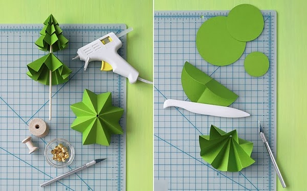 diy paper evergreens
