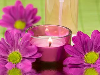 свеча цветы
