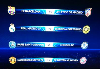 Listos los Cuartos de Final Champions League 2013 - 2014