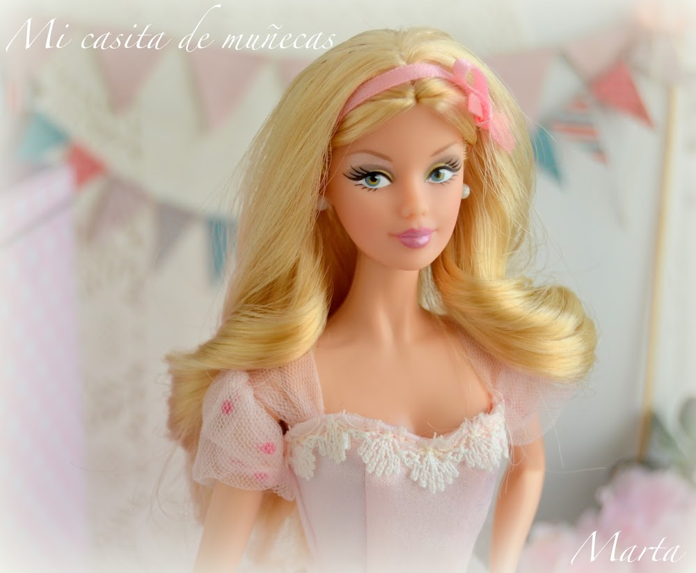Barbie Happy Wishes 2013. Molde Mackie, cuerpo Model Muse. Vestido rosa con tul.