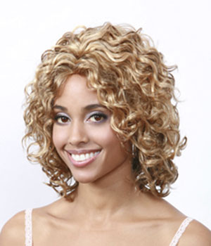 Sew in Loose spiral curl hair weave hairstyle-Short loose spiral curl ...