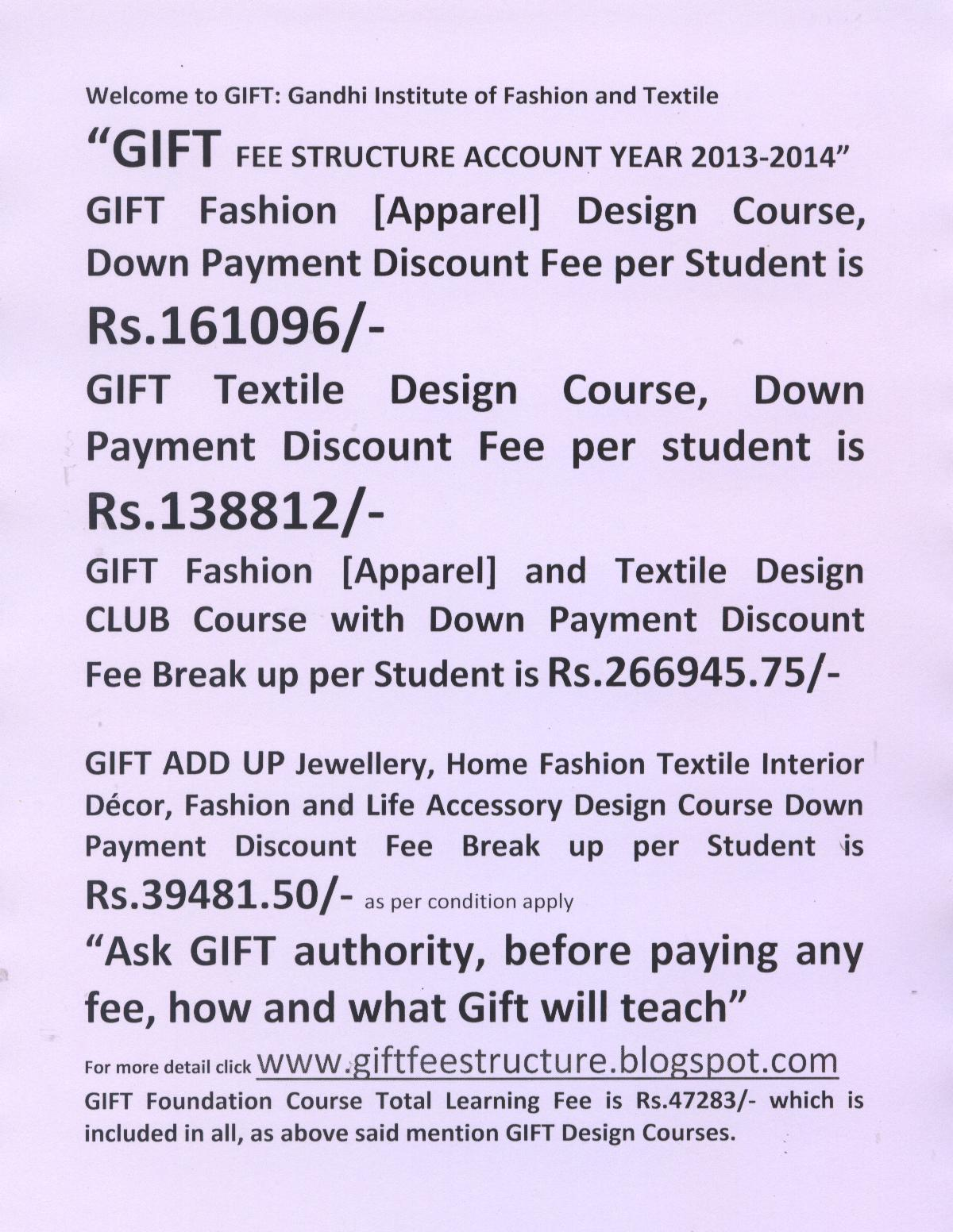 Institute Of Textile And Fashion Www.giftfeestructure.blogspot.com