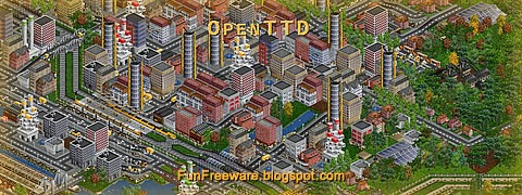 OpenTTD open source simulation game screenshot image