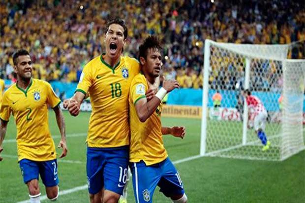 FIFA World Cup 2014 - Brazil Win over Croatia