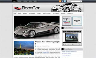 Race Car WordPress Theme