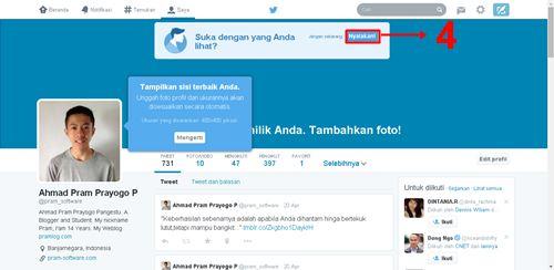 Menyalakan atau Mengaktifkan Tampilan Baru Twitter