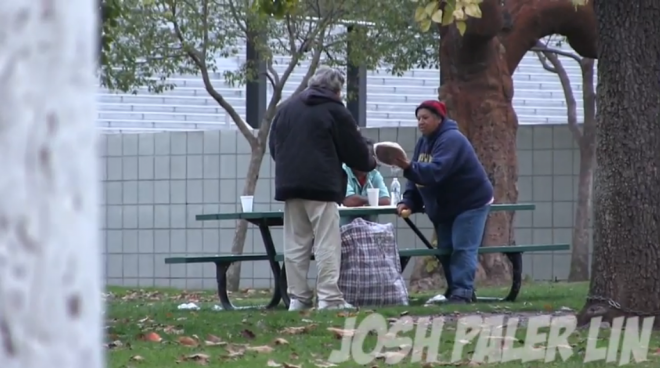 He Gave A Homeless Man $100 And Then Followed Him. You Won't Believe What He Did With The Money.