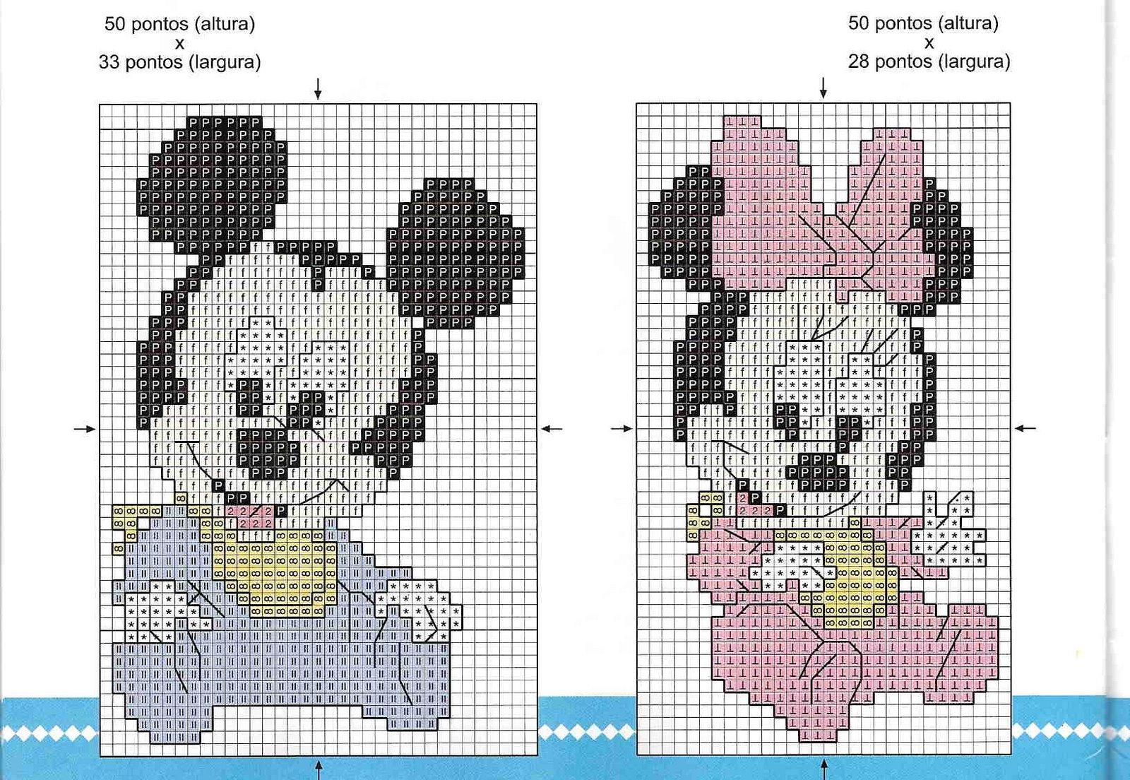 Вышивка детская картинка и схема 171
