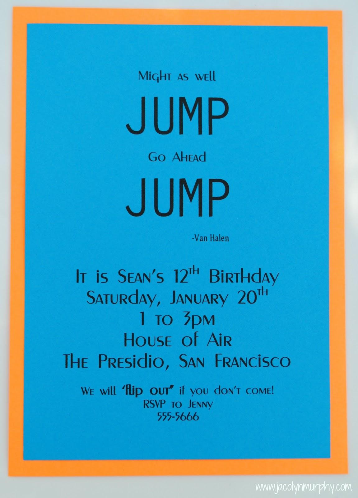 Bounce Party Invitation for amazing invitations ideas