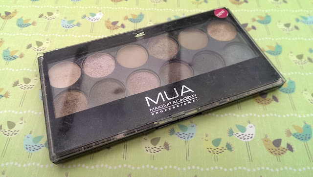 A photo of the MUA undressed palette (used!)