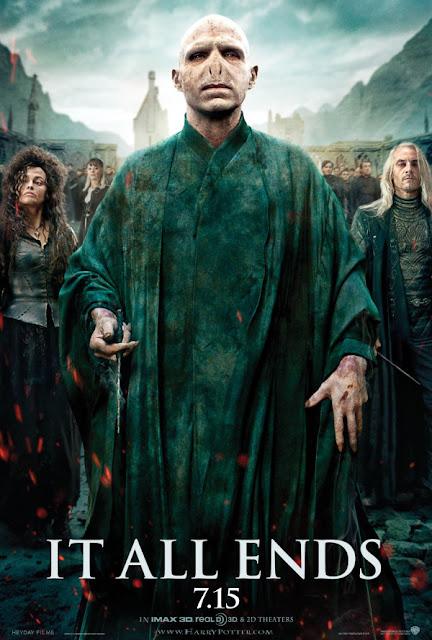 """Poster de Protagonistas en Trios """"It All Ends"""" Harry Potter y las Reliquias de la Muerte Parte 2"""