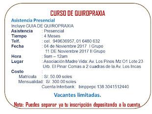 CURSO DE QUIROPRAXIA EN COMAS LIMA