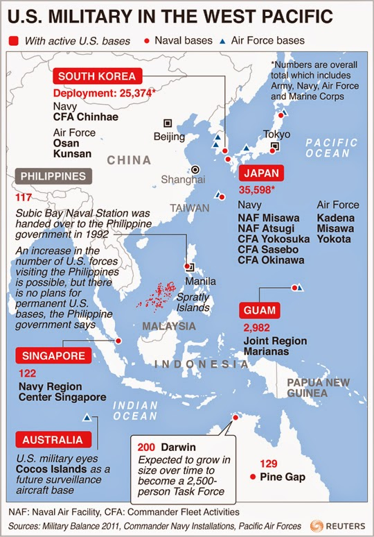 Cops Of The Pacific The US Militarys Role In Asia In The Age - Us naval bases in japan map