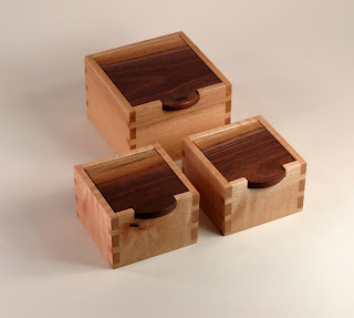 Group of 3 Keepsake Boxes using reclaimed wood