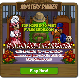 FarmVille Mystery Dinner Countdown Popup