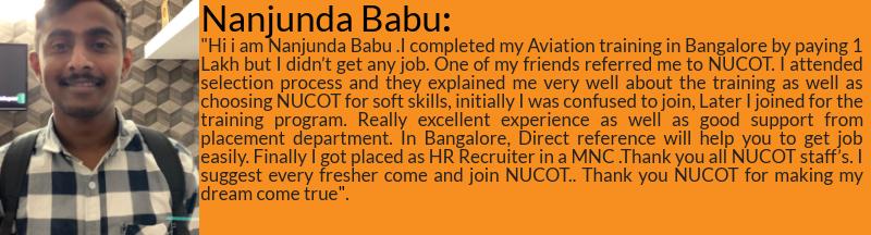 Nanjunda Babu got placed as US Recruiter