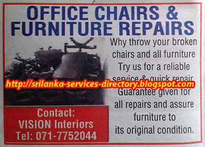 Sri Lanka ServicesSri Lanka Services Page Office Chair And