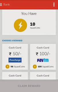 Free Recharge Earning app for Android : SquadRun
