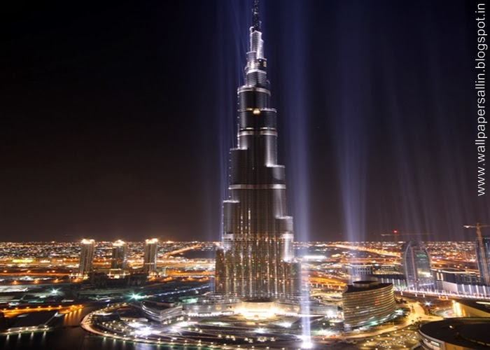burj khalifa dubai in night