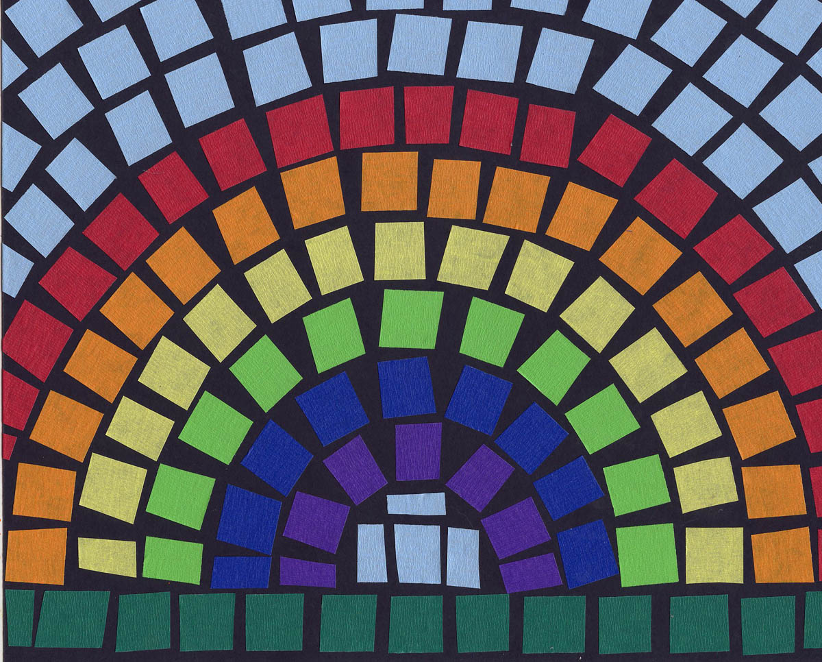 Mosaic rainbow art projects for kids for Paper art projects