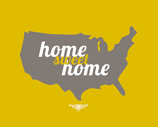Home Sweet Home Poster yellow