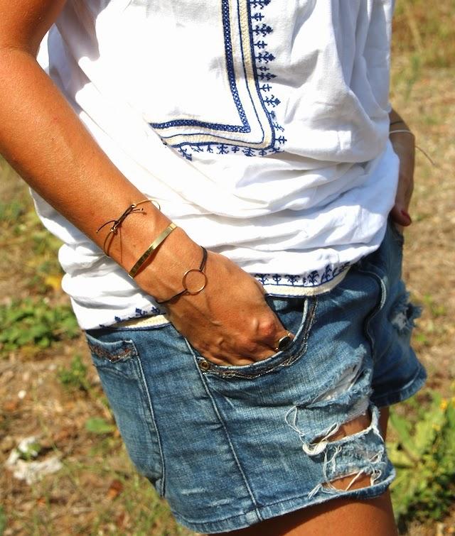 mango, short jean, juste juliette, rayban, club master, kjacques, fashion blogger; blog mode lille