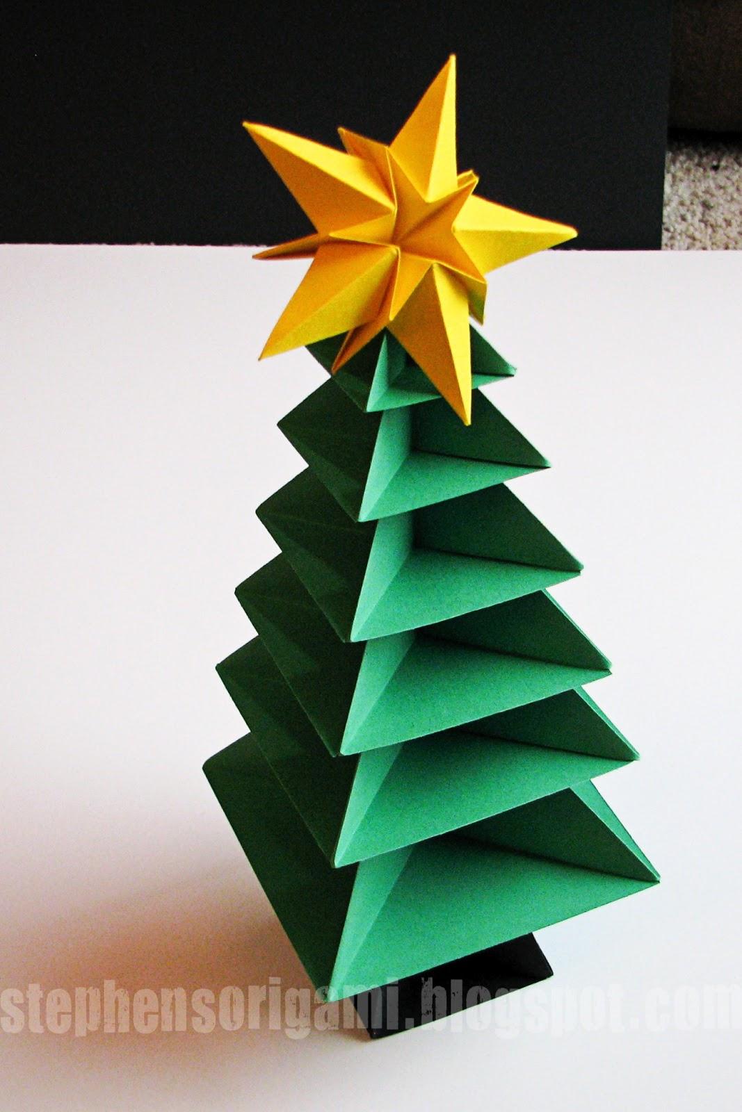 stephens origami origami christmas tree tutorial