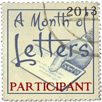 A Month of Letters 2013 badge