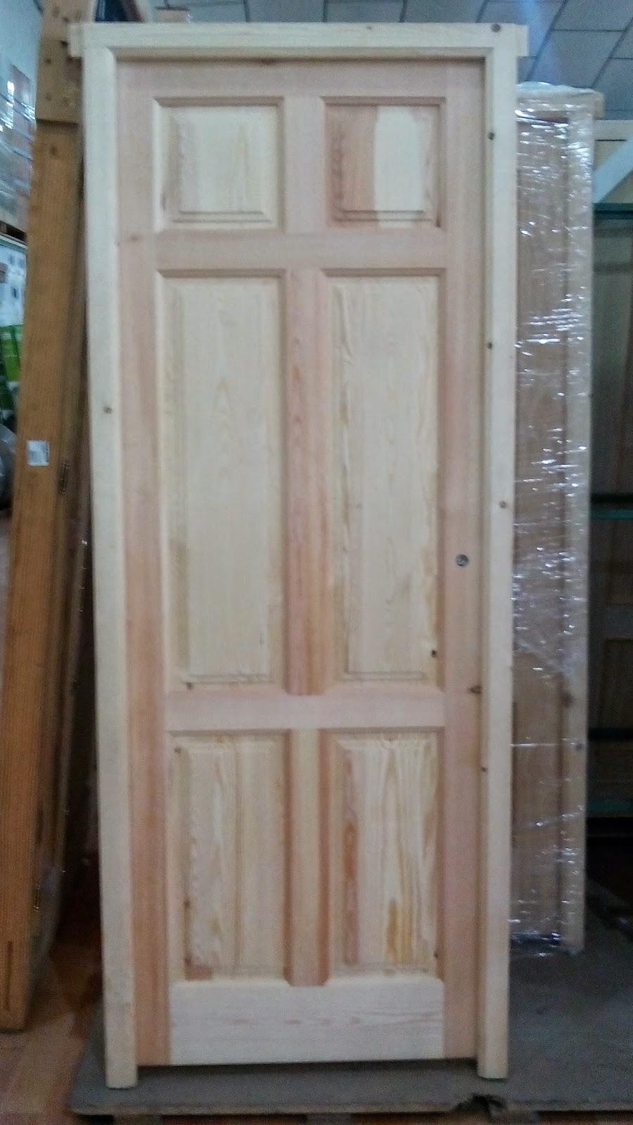 Puerta de madera maciza m6 de interior y exterior for Puertas de madera maciza