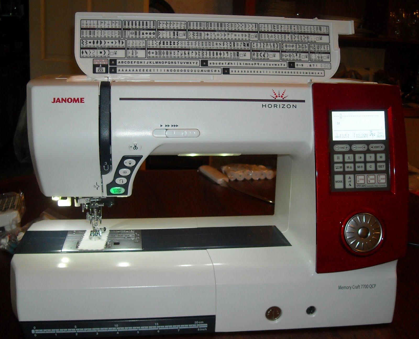 Janome Horizon Memory Craft 7700QCP Instruction Manual