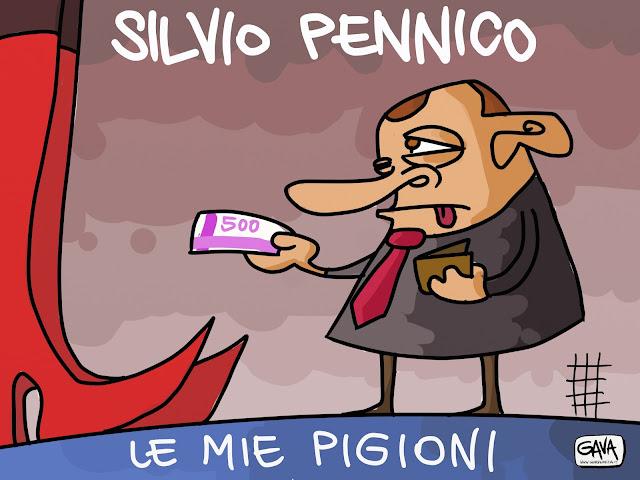 Berlusconi condannato 4 anni Silvio Pellico Gava Satira Vignette