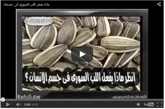 بالفيديو : ماذا يفعل اللب السوري في جسم الانسان