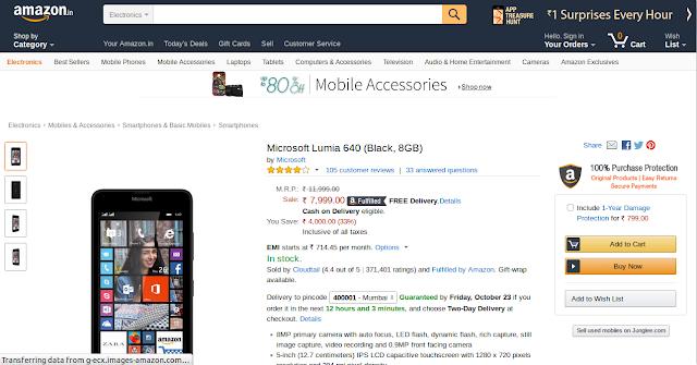 lumia 640 offer