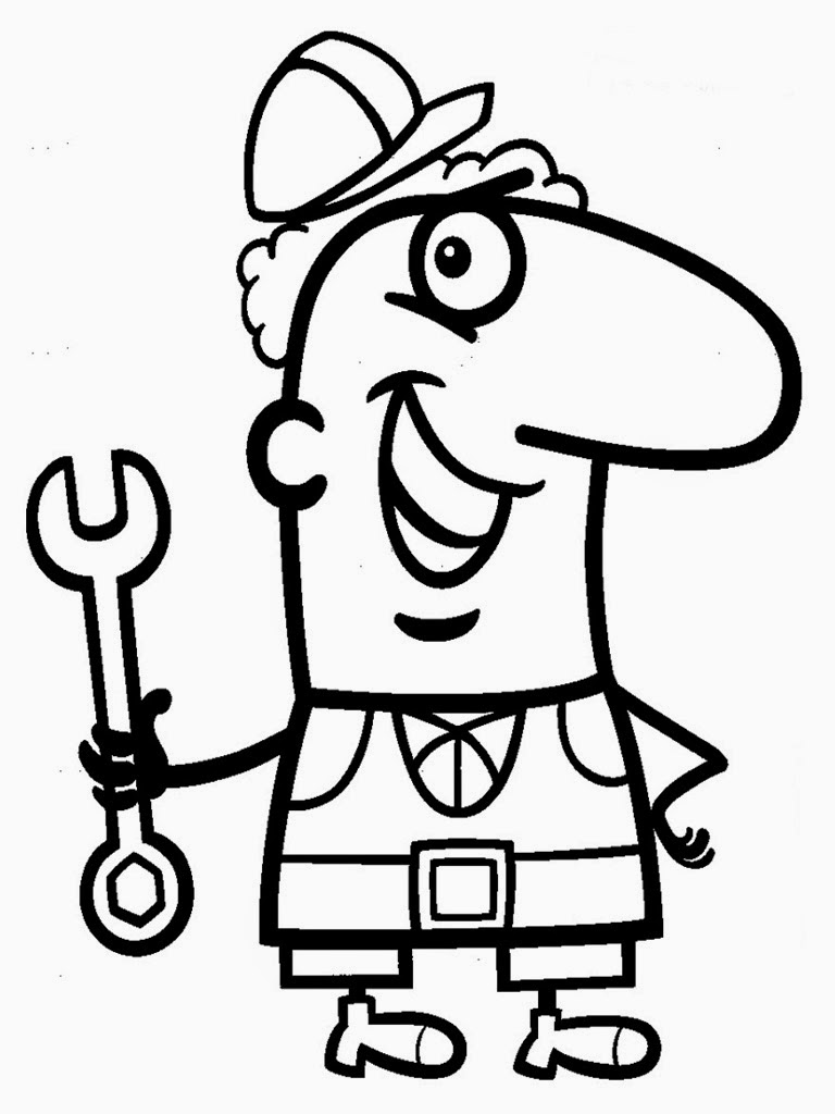 Mechanics Coloring Pages Realistic