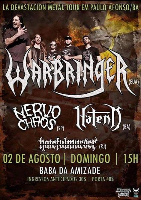 02-08-2015 - LA DEVASTACION METAL TOUR - Paulo Afonso - BA
