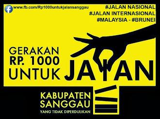 #Rp1000untukjalansanggau